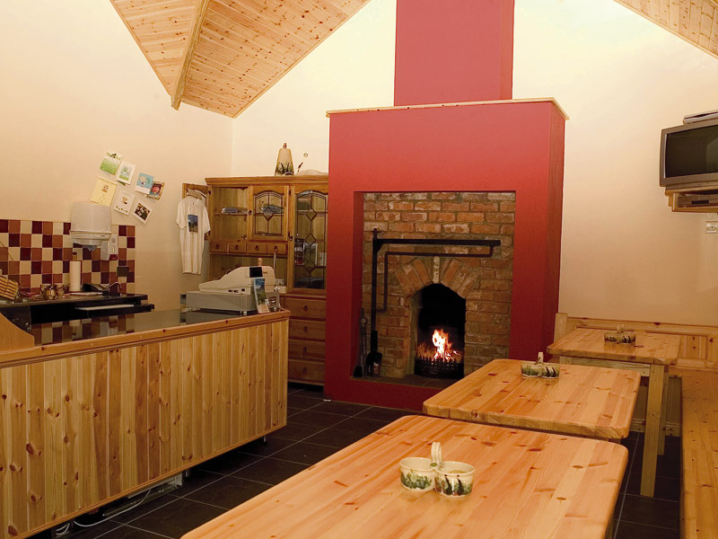 The tearoom with open fire