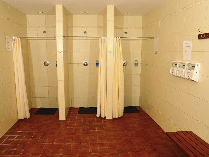 The shower facilities at Cronin's Yard